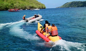 Enjoy Banana boat  in Nusa Dua, Bali
