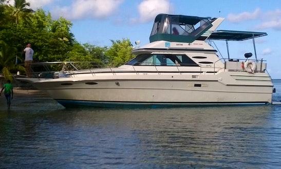 Charter 43' Cabin Cruiser Motor Yacht In Vieux Fort, Saint Lucia