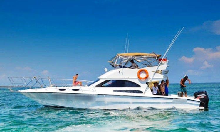 Enjoy Fishing and Tours in Kuta Selatan, Bali on 43' Sport Fisherman