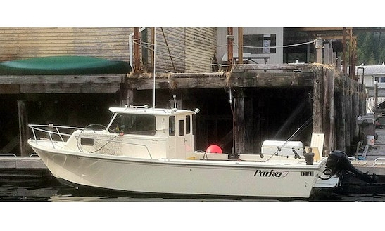 Winter Harbour Fishing Charter On 25' Parker Pilot House Boat With Steve