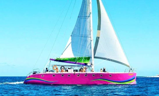 Charter A 50 Person Cruising Catamaran In Riviere Du Rempart, Mauritius