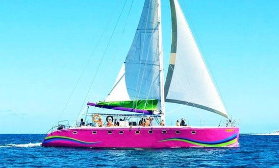 Charter A 50 Person Cruising Catamaran In Riviere Du Rempart, Mauritius