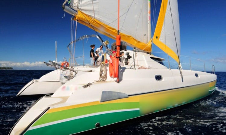'Cat-Ananas' Cruising Catamaran Charter in Saint-Gilles les Bains