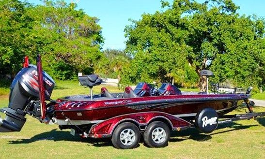 Enjoy Fishing On Bass Boat In Coconut Creek, Florida