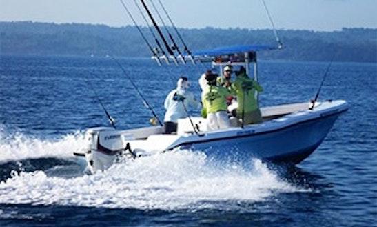 23ft Center Console Fishing Charter In Osa Peninsula, Costa Rica