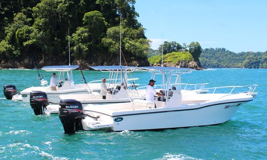 25' Dusky Center Console Boat Rental In Costa Rica