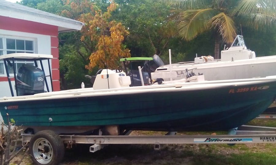 Full day Fishing Charter in Andros, The Bahamas on a Center Console