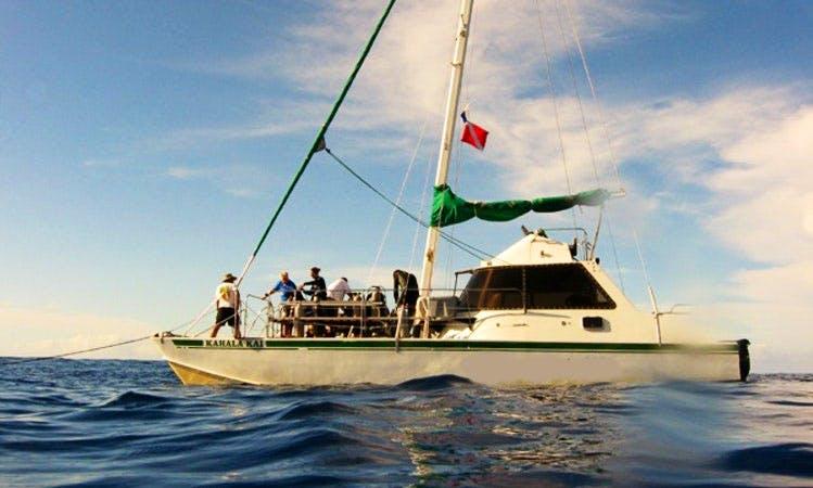 "Sailing Charter On 40ft ""Kahala Kai"" Cruising Catamaran In Honolulu, Hawaii"