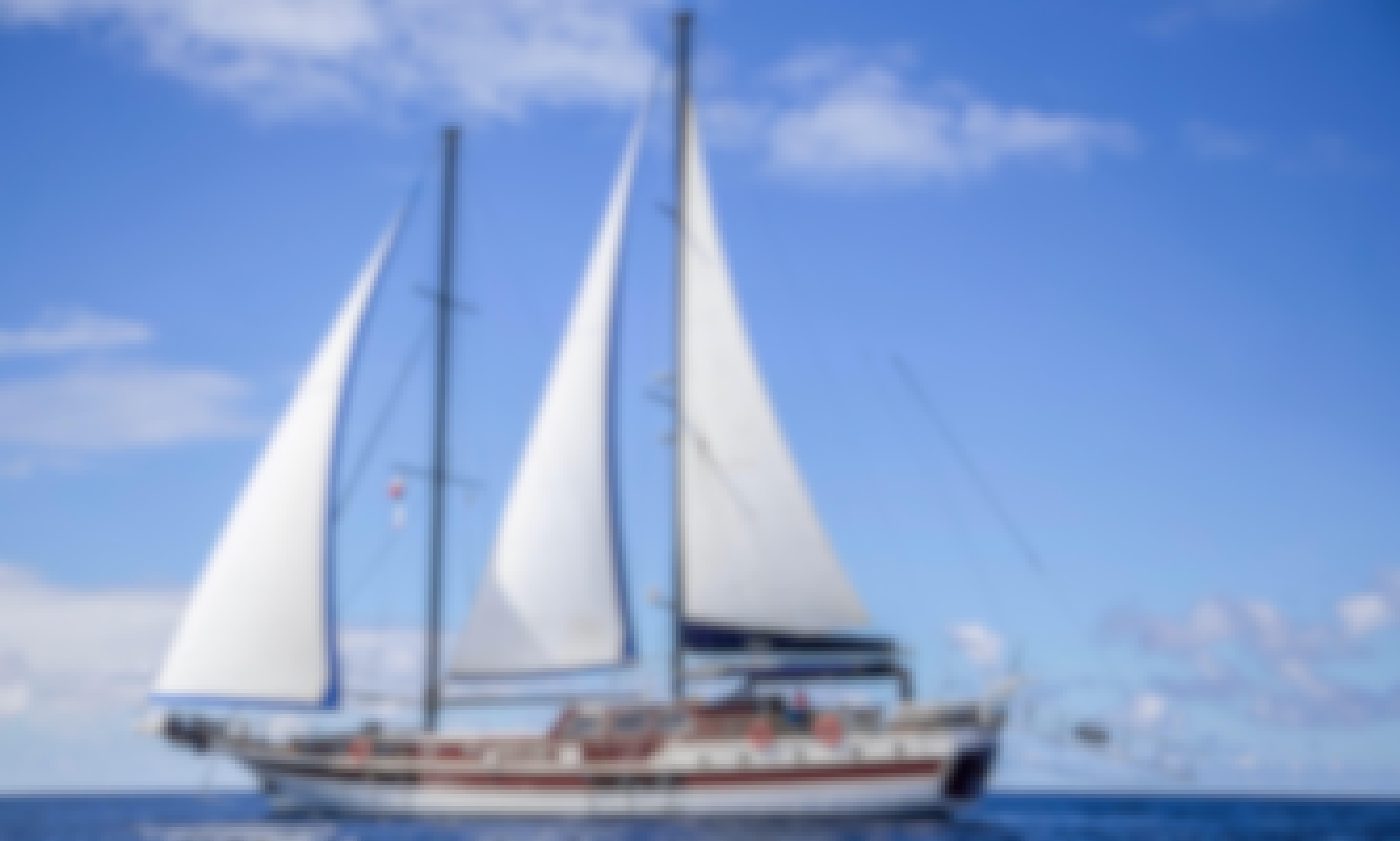 Sail on Turkish Gulet in San Blas islands,Panama