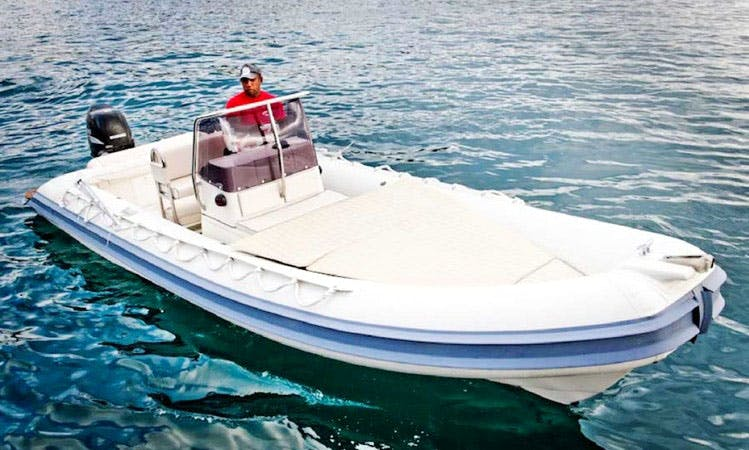 21' Gommonautica G65 RIB Rental in Ponza, Italy