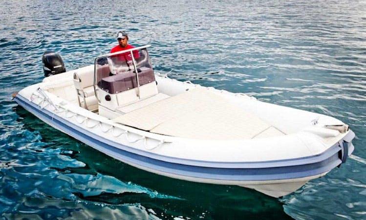 21' Gommonautica G65 RIB Rental in Ponza, Italy
