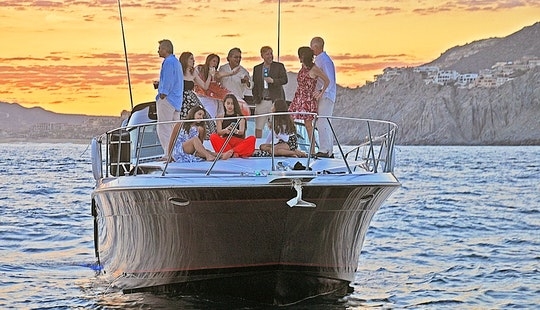 3 Hours Long Private 46ft Yacht Cruise In Cabo San Lucas, Including Gourmet Appetizers, Free Unlimited Bar, Snorkel Equipment, Towels And A Paddleboard