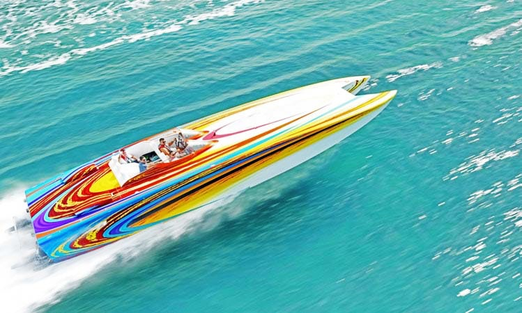 46 Skater Speed Boat For Rent In Miami Beach Cruising