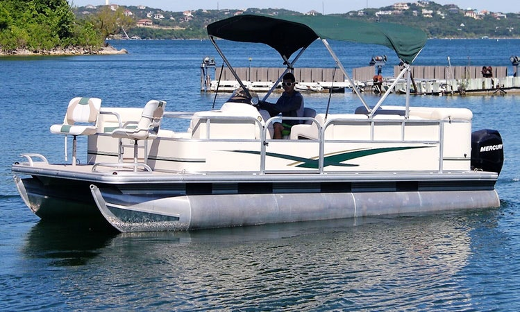 Suntracker Party Pontoon Boat Rental In Austin Texas