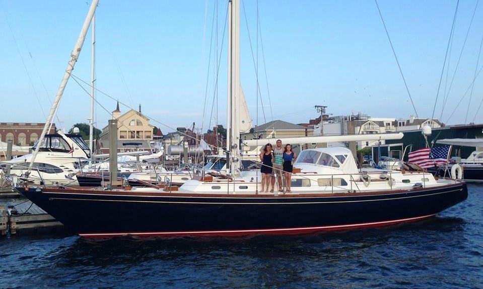 Elegant Hinckley Sou'wester 59 sloop in the Caribbean