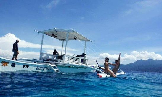Outrigger Boat Fishing Charter In Camiguin Island, Philippines
