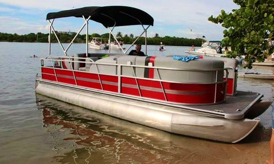 Rent 22' Bentley Pontoon In North Miami Beach And Hollywood, Florida