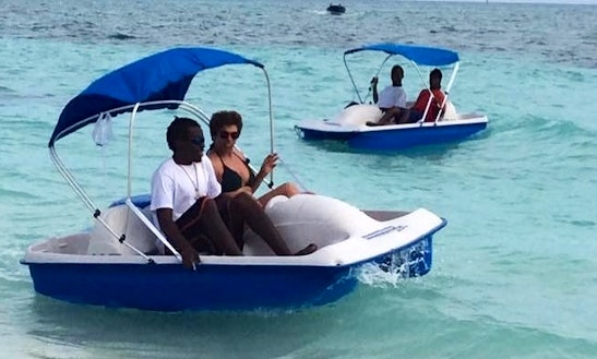 Rent A Pedal Boat In Freeport, The Bahamas