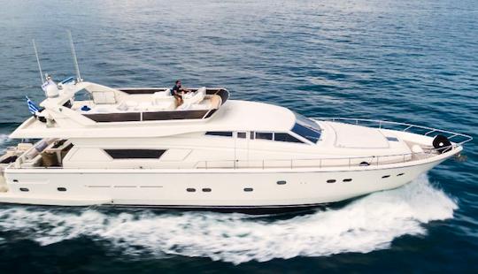 Charter 75' Ferretti 225 Power Mega Yacht In Greece
