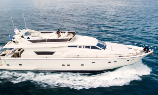 Charter 75' Ferretti 225 Power Mega Yacht In Greece