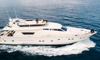 Charter 75' Ferretti 225 Motor Yacht in Greece