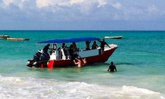 Dive Boat In Paje Zanzibar