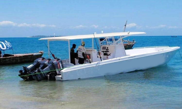 Enjoy Fishing in Kizimkazi, Tanzania on 42' Center Console