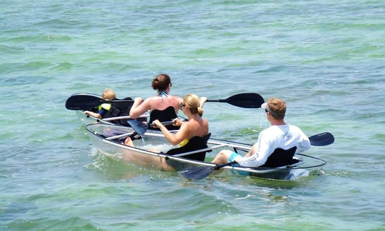 Rent A Glass Bottom Canoe In Freeport, The Bahamas