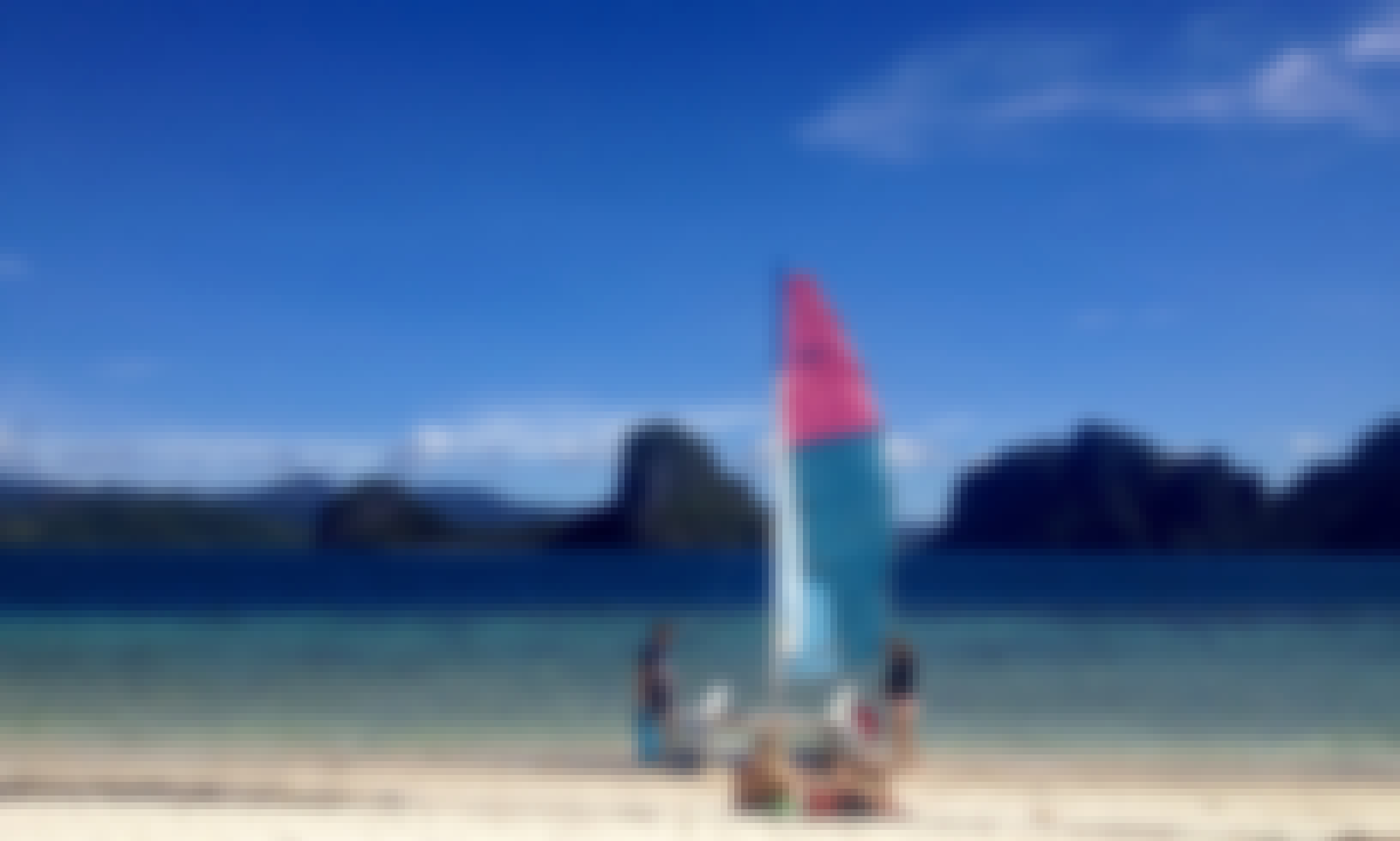 "13ft ""Herplast"" Beach Catamaran Rental In El Nido, Philippines"