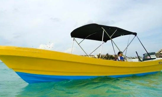 Fishing Charter A Center Console In Cancun, Mexico For Up To 6 People
