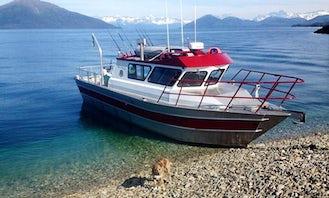 Charter 33ft Peregrine Fishing Boat in Whittier, Alaska
