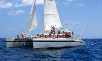 """""""Marlin del Rey"""" 66ft Catamaran Sailing in Playa Tamarindo"""
