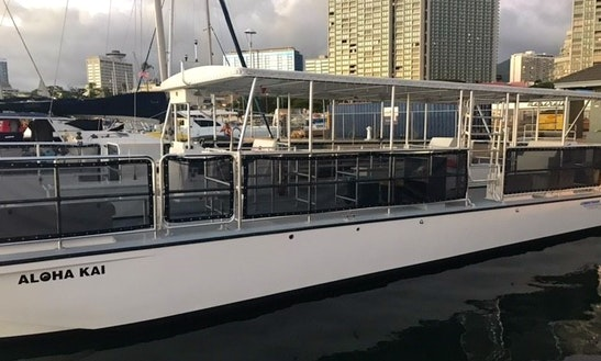 Brand New 50' Power Catamaran Rental In Honolulu