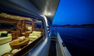 Charter 70' Posillipo Rizzardi Power Mega Yacht in Greece