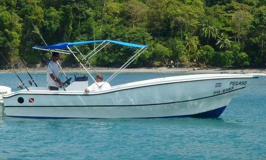 Enjoy Fishing In Center Console Fishing Charter In Quepos, Costa Rica