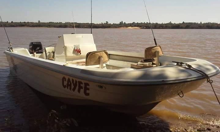 Enjoy Fishing in Salto, Uruguay on Jon Boat