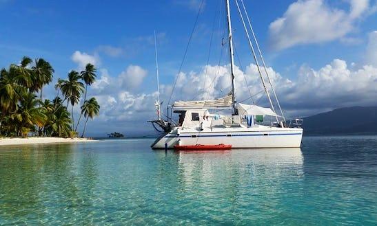 Panama San Blas Islands On Privilege 37 Cruising Catamaran
