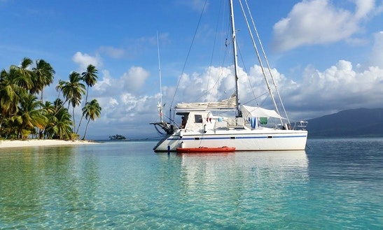 Panama San Blas Islands On Privilege 37 Cruising Catamaran