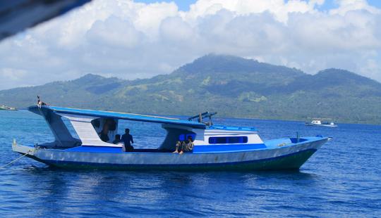 Deck Boat Rental To Bunaken & Siladen Island