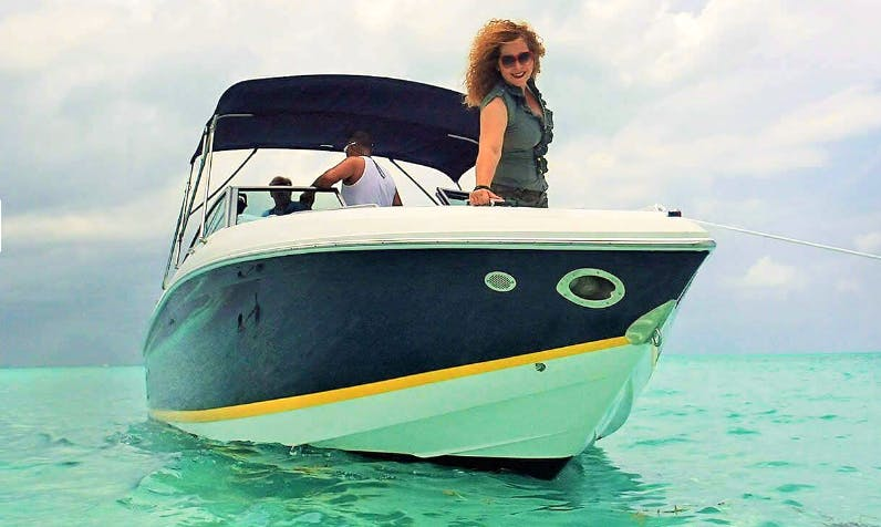 A 10-Guests Bowrider for Charter in George Town, Cayman Islands