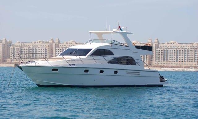 Luxurious 56 Feet Gulf Craft Yacht Rental, 25 Guests Capacity