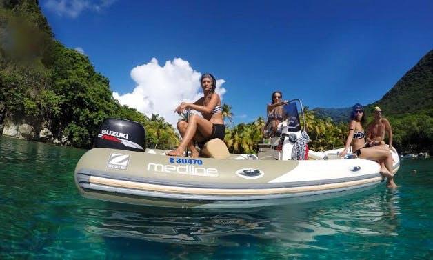Rent the Zodiac Medline 550 Semi Rigid Inflatable Boat In Basse-Terre, Guadeloupe