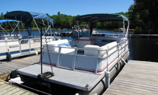 24' Crest Pontoon Boat Rental On Kennebec Lake, Arden, Ontario