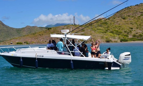 Enjoy Fishing In Charlestown, Saint Kitts And Nevis On Center Console