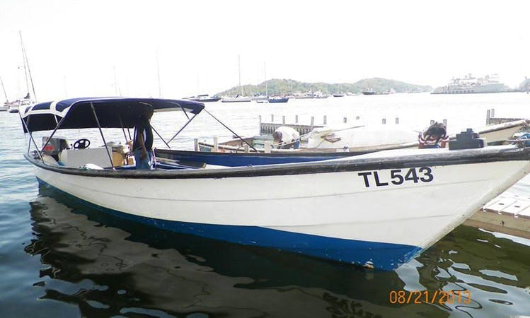 Charter Spider Traditional Boat in Port of Spain, Trinidad and Tobago