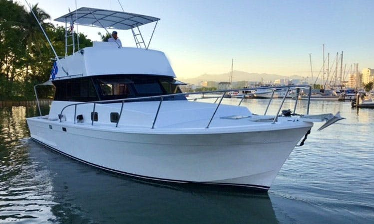 "Fishing Charter 42ft ""Gisele"" Sports Fisherman In Nuevo Vallarta, Mexico"