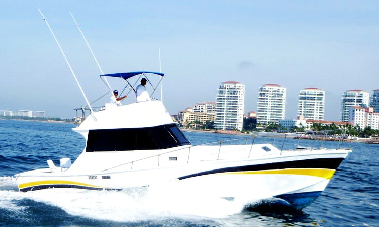 "Fishing Charter 42ft ""Karina II"" Sport Fisherman Yacht In Puerto Vallarta, Mexico"