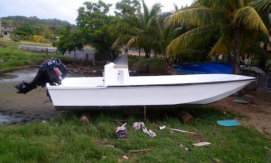 Enjoy Captained Fishing In Islas De La Ahía, Honduras On Jon Boat