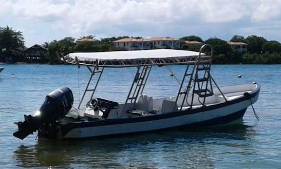 Enjoy Captained Fishing In Islas De La Bahía, Honduras On Center Console