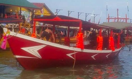 Enjoy Fishing In Sihanoukville, Cambodia On Traditional Boat